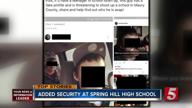 Additional Security At School After Threats