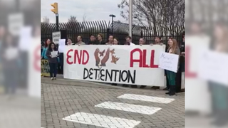 Group Holds Press Conference Outside ICE Office