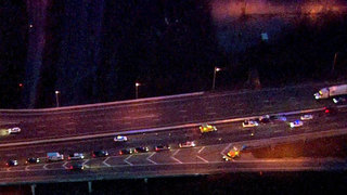 Truck Loses Load On I-24E Near Downtown