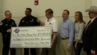 Donation Check Given To Mumaw Family