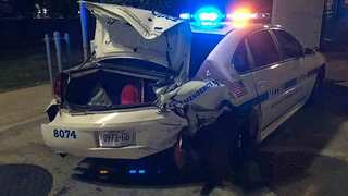 Officer Injured When Alleged DUI Driver Hits Car