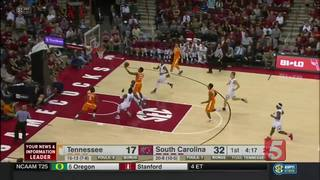 South Carolina Takes 82-55 Win Over Tennessee