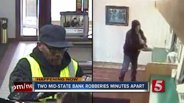 Police Search For Alleged Mid State Bank Robbers
