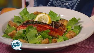 Texas Roadhouse: Blackened Salmon Caesar Salad