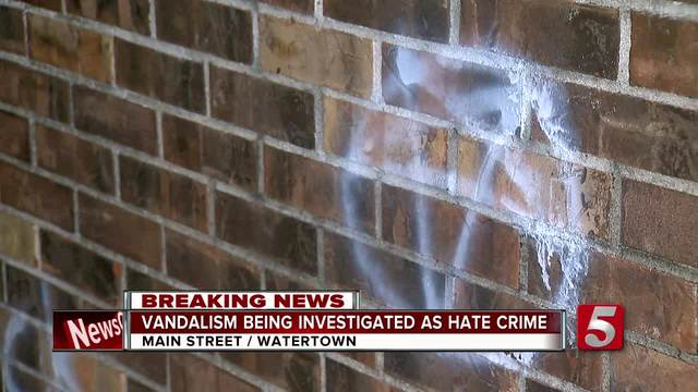 Police Investigate Watertown Vandalism As Possible Hate Crime