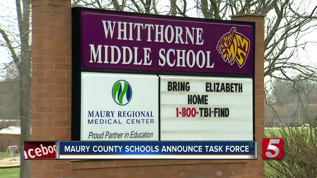Maury Co- Schools Form Task Force In Response To AMBER Alert