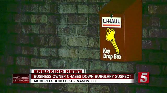 Business Owner Chases After Alleged Burglar
