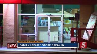 Suspect Sought In Family Leisure Break In