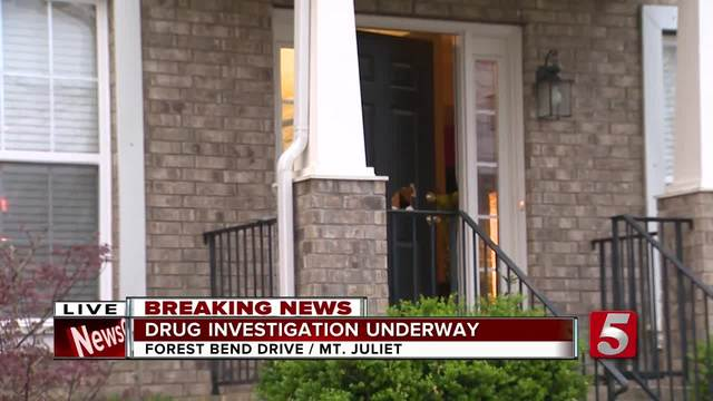 Authorities Conduct Drug Raid At Mt- Juliet Home