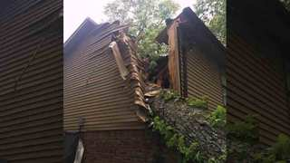 Tree Falls On Home, Traps Man In Bed