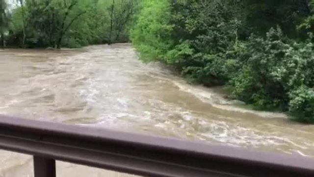 Mill Creek Rises During Heavy Rains- Storms