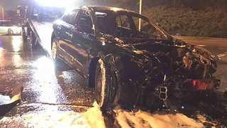No Injuries Reported After Car Catches On Fire