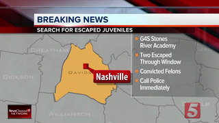 Two Juveniles Escape Custody In Nashville