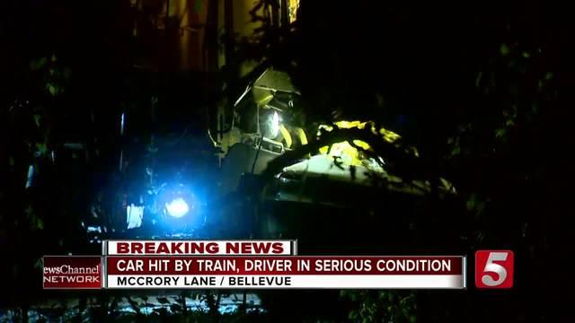 Man Hurt In Crash With Train- Car In Bellevue