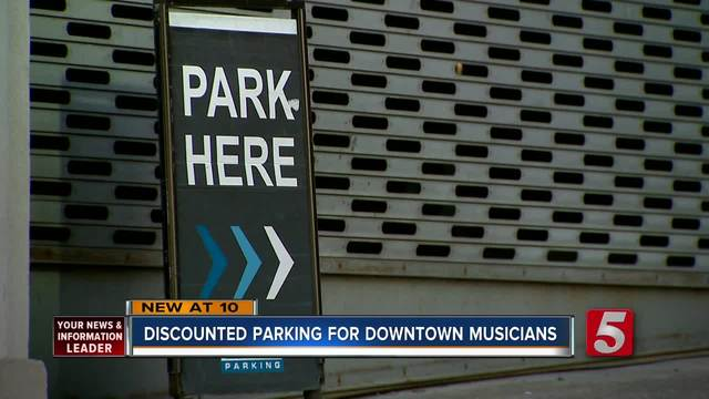 Discounted Parking Offered To Downtown Musicians