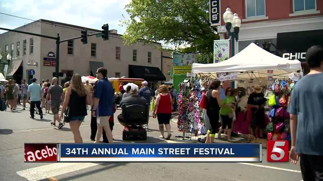 34th Annual Main Street Festival Held In Franklin
