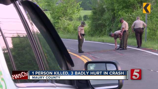Head-On Crash Kills 1 In Maury County