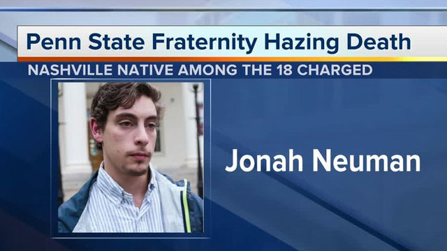 List of 18 defendants, charges in Penn State hazing death