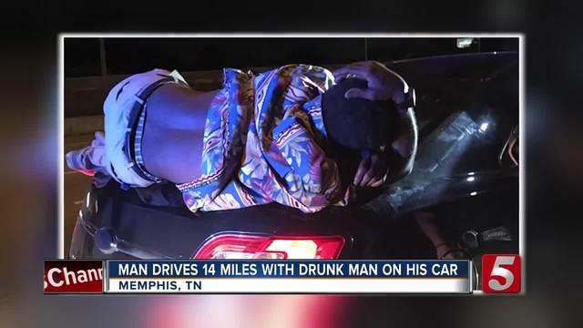 Drunk Man Rides 14 Miles On Memphis Couple-s Trunk