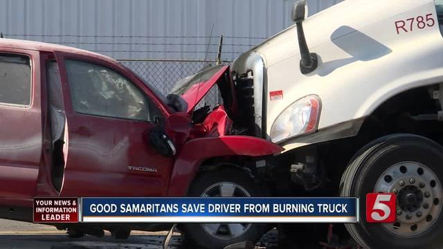 Good Samaritans Pull Injured Driver From Fiery Crash