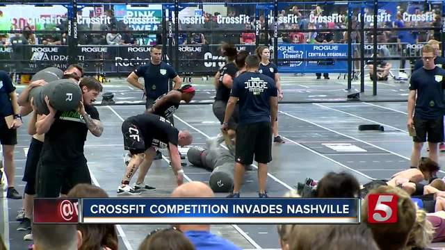 Crossfit Athletes Hit Music City For Regional Competition