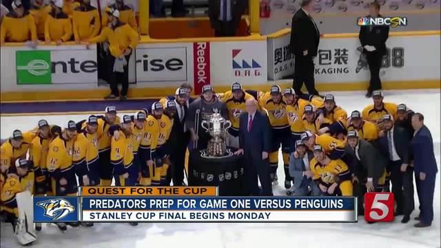 Predators Prep For Game 1 Versus Penguins