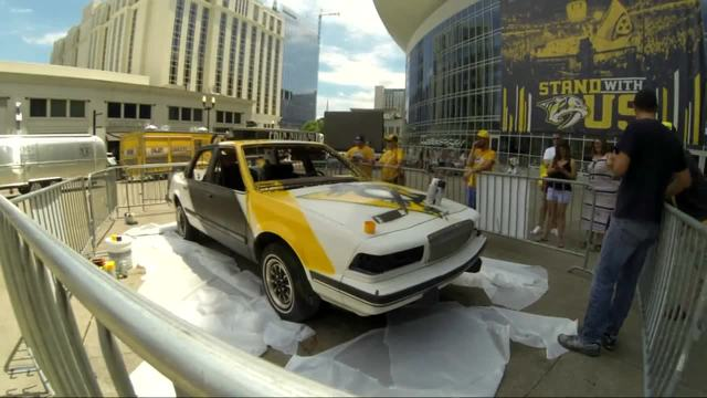 Time Lapse- Smash Car Painted For Stanley Cup Final