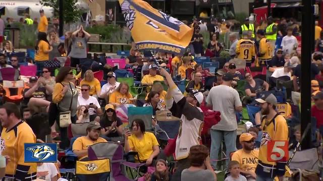 Preds Celebrate Memorial Day in Blue And Gold