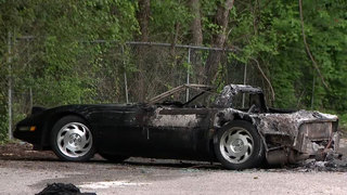 Police: Gunman Steals Corvette, Sets Car On Fire