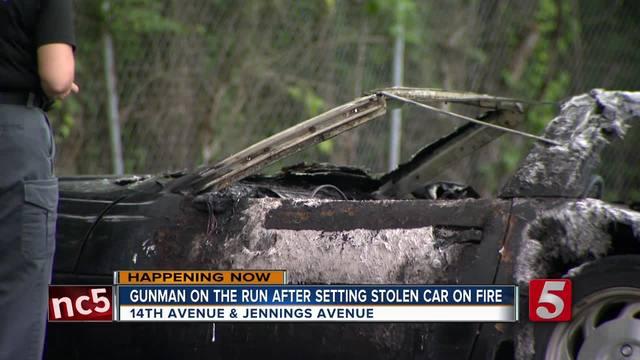Police- Gunman Steals Corvette- Sets Car On Fire