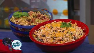Ramen Taco Salad & Balsamic Tortellini Salad