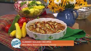 Tomato Zucchini Bake and Squash & Radish Salad
