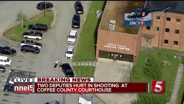 Courthouse shooting injures 2 deputies in Tennessee