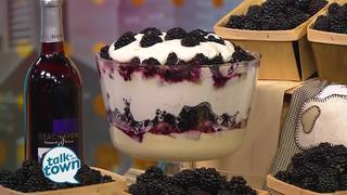 White's Family Farm's Blackberry Trifle