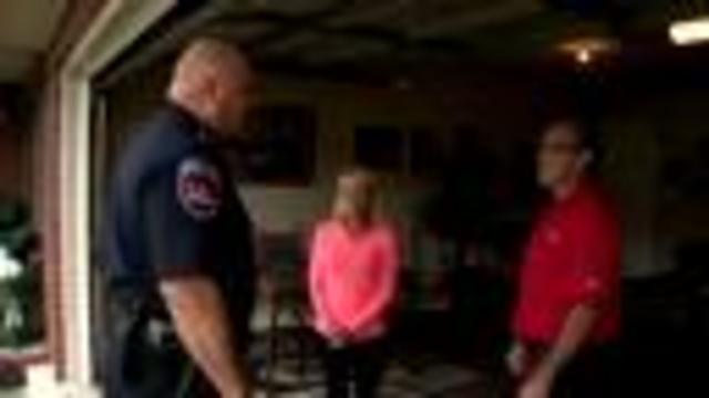 Police Officer Reunites With Man He Saved After Crash