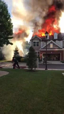 Crews Respond To Fire At Townhouses In Nippers Corner