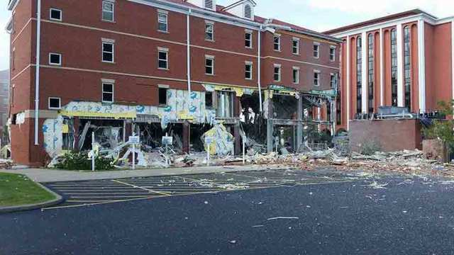 Blast rocks dormitory at Murray State