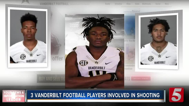 Three Vanderbilt football players involved in shooting
