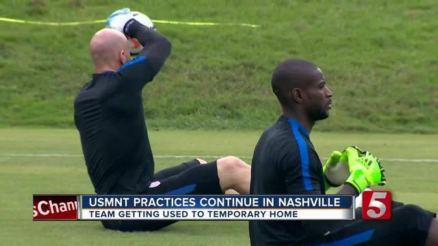 U-S- Men-s Soccer Team Preps For July Game In Nashville
