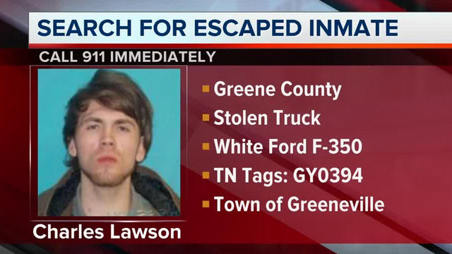 Greene County Sheriff's Office looks for escaped inmate