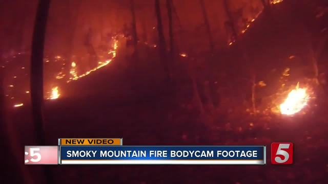 Dashcam video gives new perspective of firestorm in Tennessee