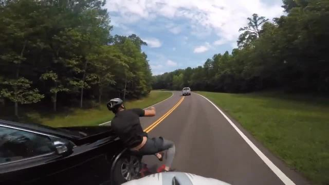 GoPro captures dramatic moment driver collides with cyclist in alleged hit-and-run