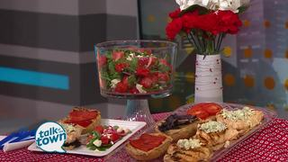 Red White and Blue Sandwiches & Watermelon Salad