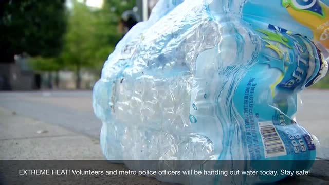 Bottled Water Handed Out In Nashville As Heat Continues