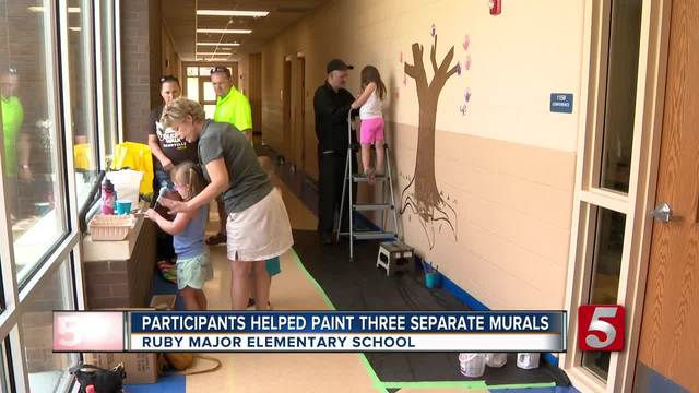 Special Murals Commissioned At Local School