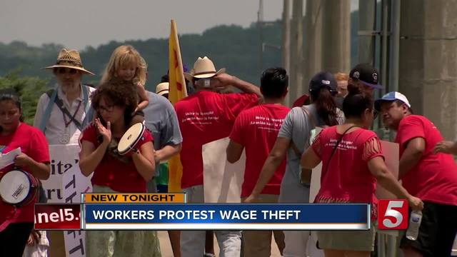 Nashville Workers Protest Wage Theft- Company Responds