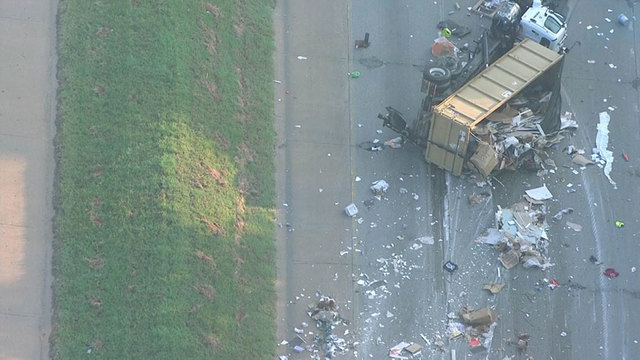 I-440 West Closed After Truck Spills Debris