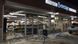 Man Charged After Crashing Into Businesses