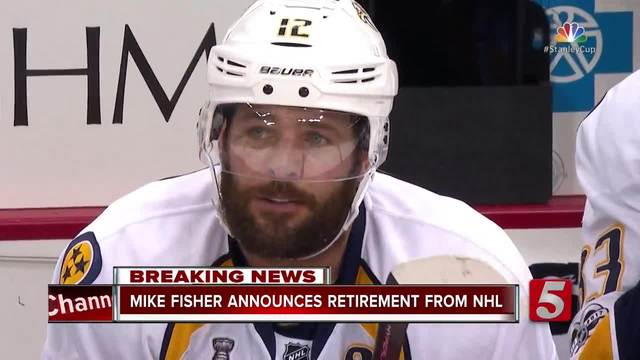 Predators captain Mike Fisher retires after 17 seasons in NHL