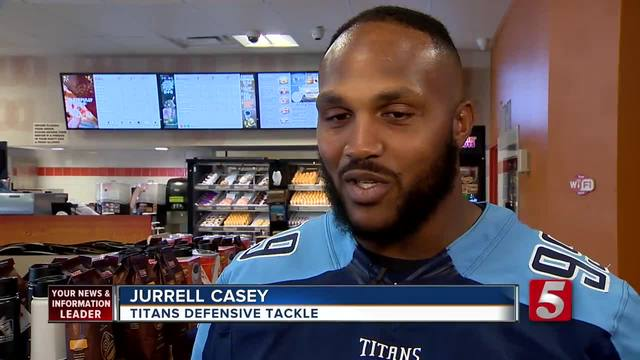 Tennessee Titans Take Over Dunkin- Donuts